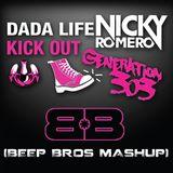 Dada Life vs. Nicky Romero - Kick Out Generation 303 (Beep Bros Mashup)