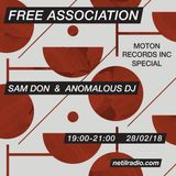 Free Association w/ Sam Don: February Moton special - 28th February 2018