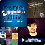 DEEPINSIDE RADIO SHOW 143 (Sean McCabe Artist of the week)