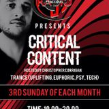 Christopher Corrigan - Critical Content 018 (September 2019)