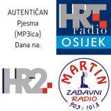 AUTENTICAN je Pjesma Dana na HR2 HR Osijek i Radio Martin