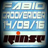 FABIO & GROOVERIDER @ RINSE FM - 14/09/16