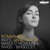 Romain BNO invite Anna Haleta - 17 Novembre 2015