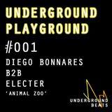 "Underground Playground #001 - Diego Bonnares B2B Electer - ""Animal Zoo"""