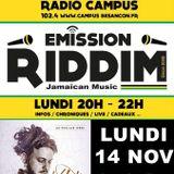 Emission RIDDIM 14 novembre 2016 avec VOLODIA