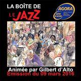 La Boîte de Jazz du 09 mars 2016