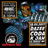 The Ruffneck Ting Takeover With Dj Dazee plus K Jah with Traffic MC live and guest mix Coda