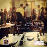 Deeply in Bayres - Live in Milano at Cafè Mirò - Deep House mix by JJ Mat - July 17 2013