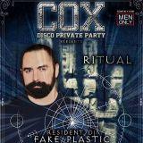 """Dj FAKE PLASTIC set COX Party """"Ritual"""" 05 Novembre 16 - Milano"""