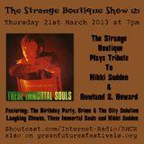 The Strange Boutique Show 121