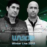 Oscar Sachnik & Mr Romero @ Winter live 2012(Warmup)
