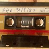 Last night of Area, N.Y.C. Part 2. March 14th, 1987. Mixed Live by justin Strauss