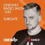 OneWay Music Radio show 042 with Subgate