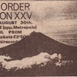 New Order Live@The Venue, Blackpool. 30/8/1982