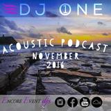 DJ 1NE | Acoustic Podcast | November 2016