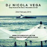 DJ Nicola Vega Live @ Catch Beach Club Phuket Thailand Sat 23 Feb 2013