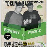 Drum & Bass Soundclash round 1 Ronny vs Propz