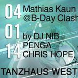 Mathias Kaun @ B-Day Clash with DJ Nib, Penga, Chris Hope (Tanzhaus West - 04.01.14)