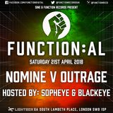 Function:AL April 2018 @ Lightbox - Nomine V Outrage - Hosted by Sopheye and Blackeye MC