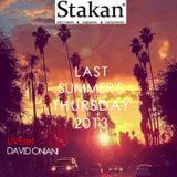 "David Oniani-LAST SUMMERS THURSDAY 2013 (LIVEset |""Stakan"" |Summer Terrace)"