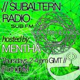 Mentha - Subaltern Radio 19/03/2015 on SUB.FM