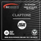 DJ AWARDS 2016/ Claptone Interview before the ceremony /  Ibiza Live Radio & WHITE FM 103.7