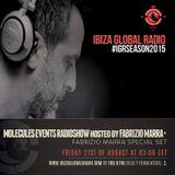 Fabrizio Marra - Ibiza Global Radio - Molecules Events Weekly Radio Show - 28/08/2015