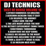 DJ Technics Best Of House 16