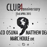 Paco Osuna  -  Live At Club4, 9th Anniversary (Barcelona)  - 23-Apr-2015