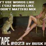 #MIXTAPE023 - I Don't Use Words Like Love ('Cuz Words Like That Don't Matter) Mix