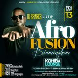 AFRO FUSION MIN MIX 13TH SEPTEMBER 2019 AT KOHIBA LOUNGE