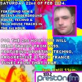 Energised With DJ Tim - 22/2/14/ - 103.2 Preston fm