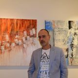 Stochastic abstract, modernistic abstract art with artist Robert Andler-Lipski