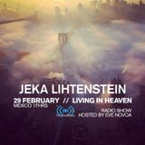 Jeka Lihtenstein-Living in Heaven Show on Tempo Radio hosted by Eve Novoa