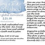 Facing a task unfinished Global worldwide show.