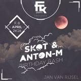 Jan Van Rijsel - Skot & Anton M's Birthday Bash @ Barcy Cosy (Mouscron) // 8 april 2016