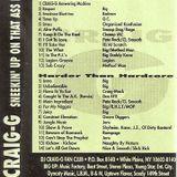 DJ Craig G Sneekin' Up On That Ass Pt. 1 ( Side A ) Tape Rip