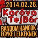 Karova Tejbar // 2014.02.26 // RANDOM HANGOK EGYKE LELKEKNEK