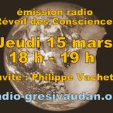 Emission du Jeudi 15 mars 2018, invité : Philippe VACHETTE
