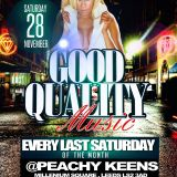 """GOOD QUALITY MUSIC"" EVERY LAST SATURDAY OF THE MONTH@ PEACHY KEENS, ELECTRIC PRESS, LEEDS ."