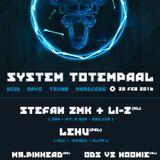 Li-Z & Stefan ZMK - 3 Decks Set @ System Totempaal Belgium 2016 [tekno|rave|hardcore]