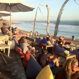Ebar live sunset session on the beach @ '707', Bali Indonesia, July 21 2015.