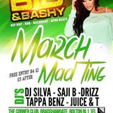 TEAM SHELLINZ SILVA & SAJI B LIVE SET BIG N BASHY MARCH MAD TING @ THE CORNER CLUB PART 1