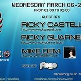 "Kunique B.A.DJ March 6th 2013 On Air ""Ricky Guarneri"" on Radio m2o"