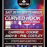 Andy.B b2b Cookie TWISTED FUNK Sat 26th Sept at STEPS BAR