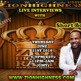 SHORT BOSS LIVE INTERVIEW WITH DJ JAMMY ON ZIONHIGHNESS RADIO 062118