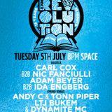 Adam Beyer b2b Ida Engberg @ Music is Revolution Week 4, Space Ibiza - 05 July 2016