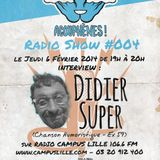 ACOUPHENES! RADIO SHOW S1#04 (06-02-2014) w. DIDIER SUPER (chanson humoristique)