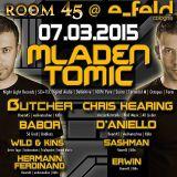 Mladen Tomic Live at Room45, E-Feld, Cologne, Germany, 07.03.2015.
