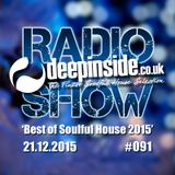 DEEPINSIDE RADIO SHOW 091 'Best of Soulful House 2015'